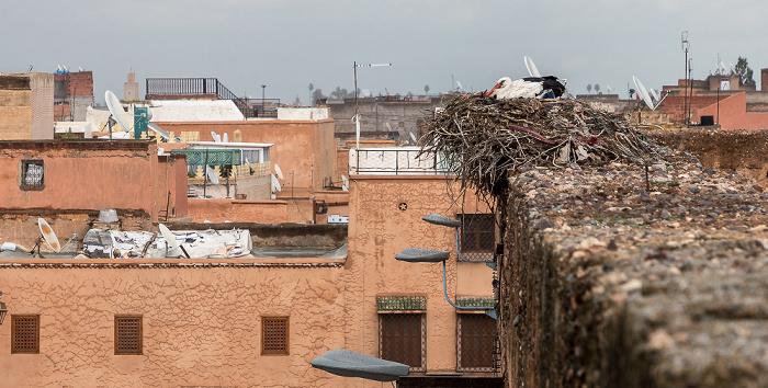 Marrakesch Palais El Badi: Storch