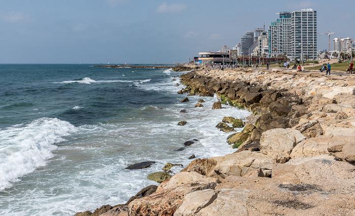 Tel Aviv Charles Clor Park and Beach, Mittelmeer Dolphinarium Discotheque Herbert Samuel Street