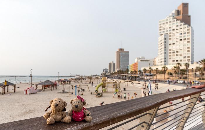 Tel Aviv Shlomo Lahat Promenade: Teddy und Teddine Bograshov Beach Herbert Samuel Street