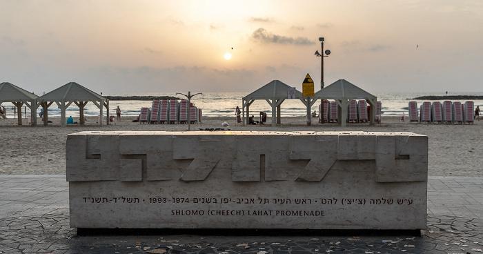 Tel Aviv Shlomo Lahat Promenade, Jerusalem Beach, Mittelmeer