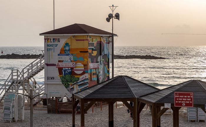 Tel Aviv Frishman Beach, Mittelmeer