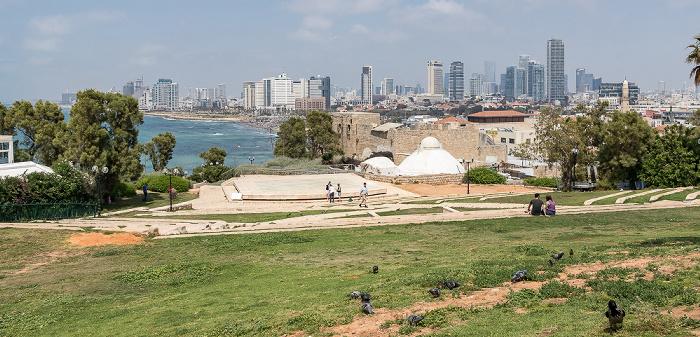 Tel Aviv Blick vom Ha-Pisga-Park: Alt-Jaffa, Mittelmeer, Strand, Stadtzentrum