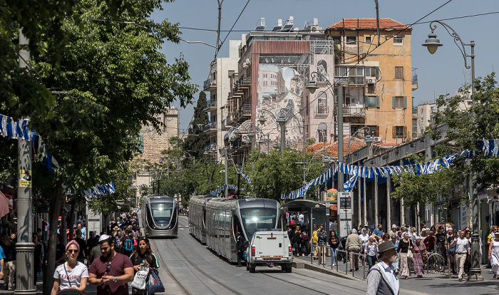 Jaffa Road mit der Jerusalem Light Rail