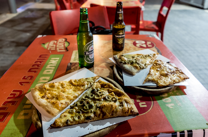 Jerusalem King George Street: Pizza und Bier