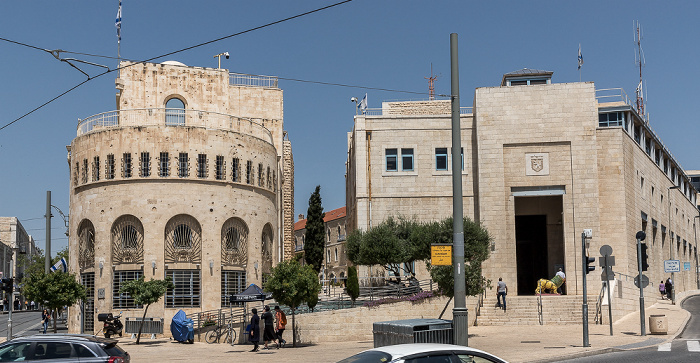 Tsahal Square: Jerusalem Historical City Hall Building (links)