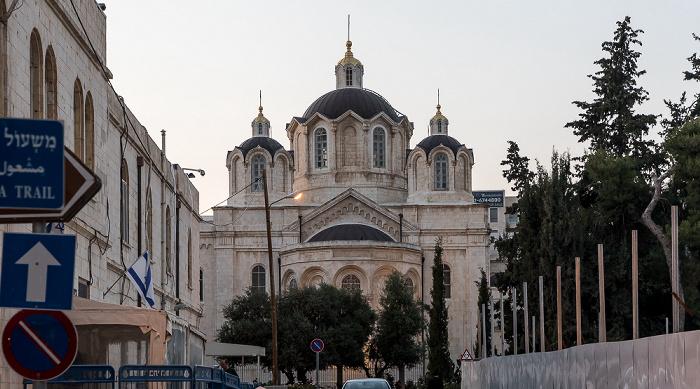 Shne'ur Kheshin Street: Russische Dreifaltigkeitskirche Jerusalem
