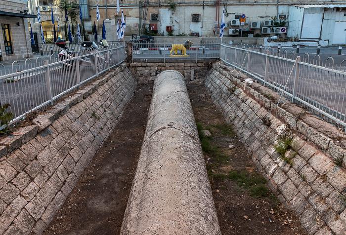 Shne'ur Kheshin Street: Finger of Og (Herod's Pillar) Jerusalem
