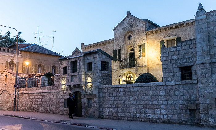 Jerusalem Musrara: HaNevi'im Street (Street of the Prophets) - Tabor House (Swedish Theological Institute)