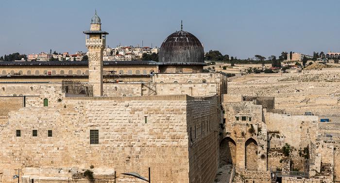 Altstadt: Tempelberg mit El-Fakhariyya-Minarett und Al-Aqsa-Moschee Jerusalem