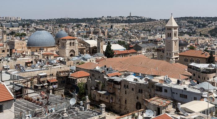 Jerusalem Blick von der Davidszitadelle: Altstadt mit u.a. Grabeskirche und Erlöserkirche