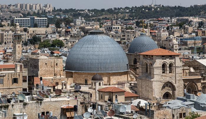 Jerusalem Blick von der Davidszitadelle: Altstadt mit u.a. Grabeskirche