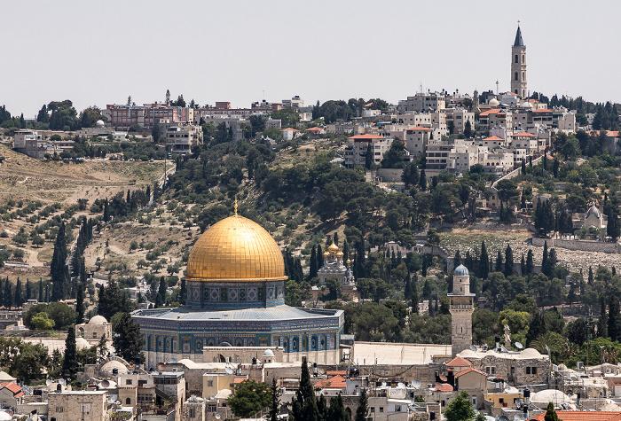 Blick von der Davidszitadelle: Altstadt mit u.a. Felsendom Jerusalem