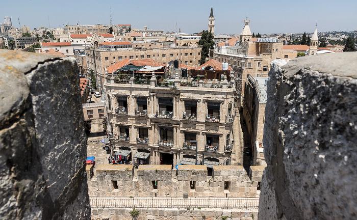 Blick von der Davidszitadelle: Altstadt mit u.a. New Imperial Hotel Jerusalem