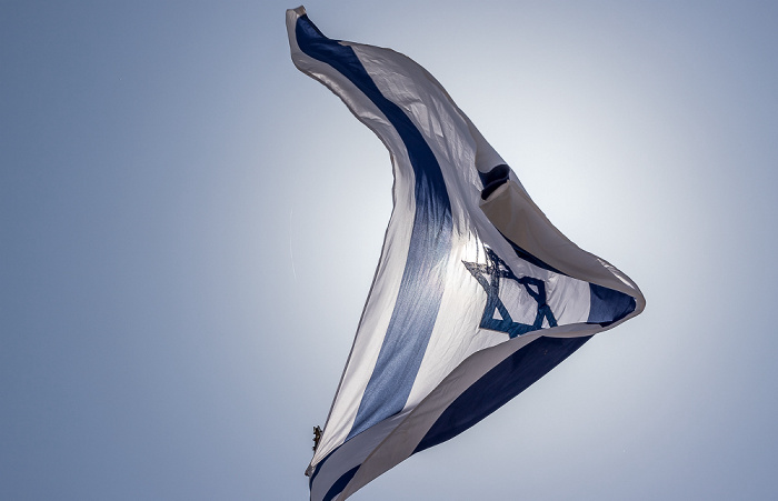 Davidszitadelle: Israelische Flagge Jerusalem