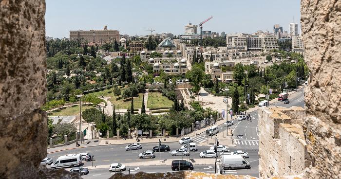 Blick von der Davidszitadelle: Neustadt Jerusalem