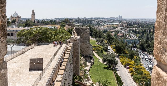 Blick von der Davidszitadelle Jerusalem