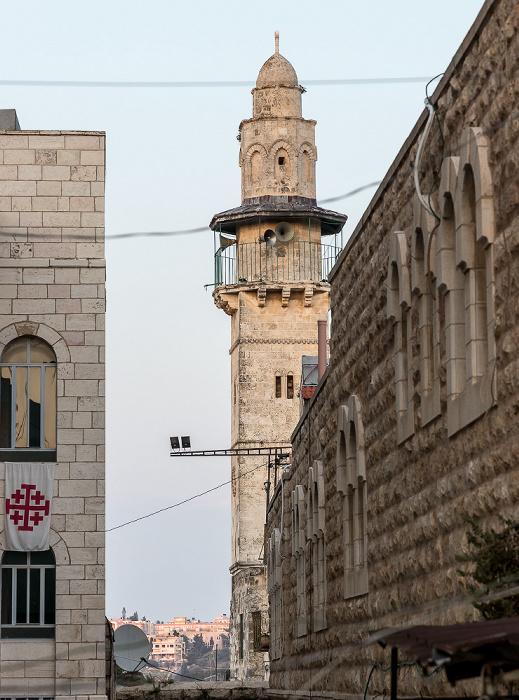 Jerusalem Altstadt (Christliches Viertel): Minarett der Omar-Moschee