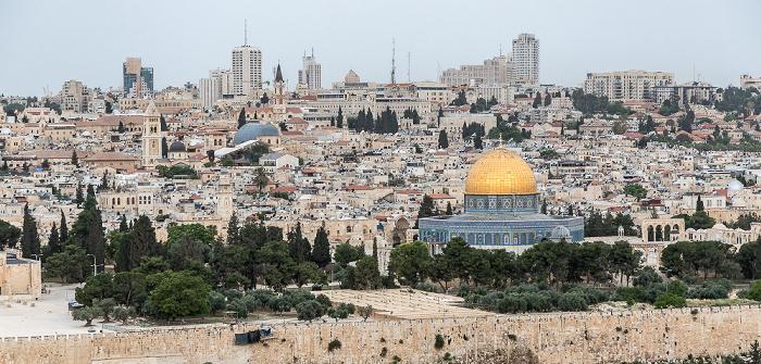 Blick vom Ölberg: Tempelberg mit Felsendom Jerusalem