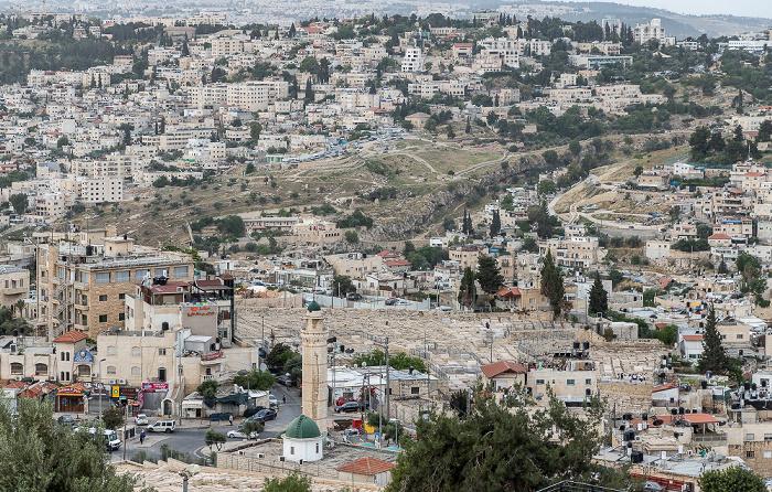 Blick vom Ölberg: Ras al-Amud Jerusalem