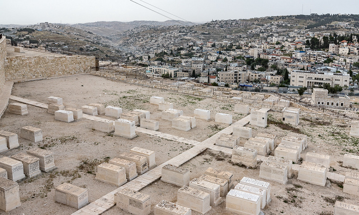 Blick vom Ölberg: Kidrontal - Jüdischer Friedhof Jerusalem