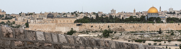 Tempelberg mit Al-Aqsa-Moschee und Felsendom Jerusalem