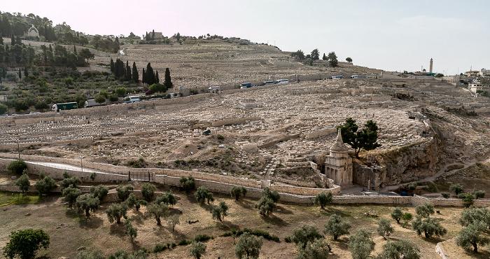 Jerusalem Kidrontal / Ölberg: Jüdischer Friedhof Grabmal des Abschalom