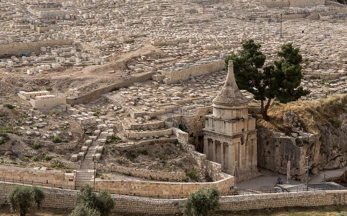 Jerusalem Kidrontal: Jüdischer Friedhof, Grabmal des Abschalom