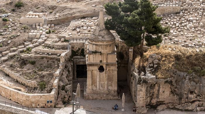 Kidrontal: Jüdischer Friedhof, Grabmal des Abschalom Jerusalem