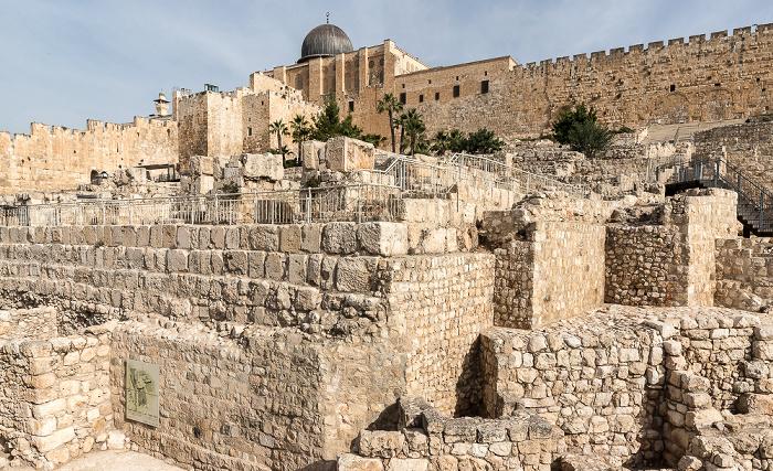 Archaeological Park Davidson Center, Tempelberg mit Al-Aqsa-Moschee Jerusalem