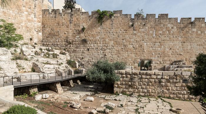 Jerusalem Beit Shalom Garden, Altstadtmauer