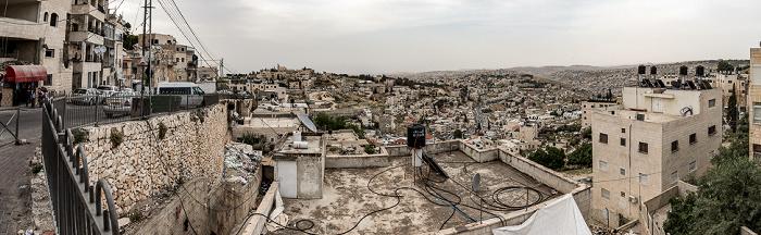 Blick vom Ölberg: Ostjerusalem, Bethanien (Palästinensische Autonomiegebiete) Jerusalem