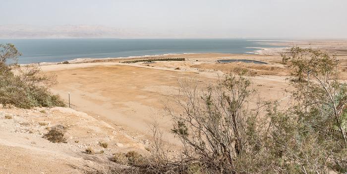 En Gedi Blick vom Kibbuz: Totes Meer