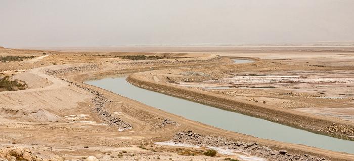 Totes Meer (IL) Verbindungskanal zwischen nördlichem und südlichem Teil des Toten Meers