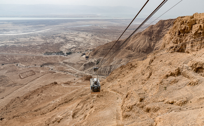 Masada Blick aus der Berglstation der Seilbahn Schlangenpfad