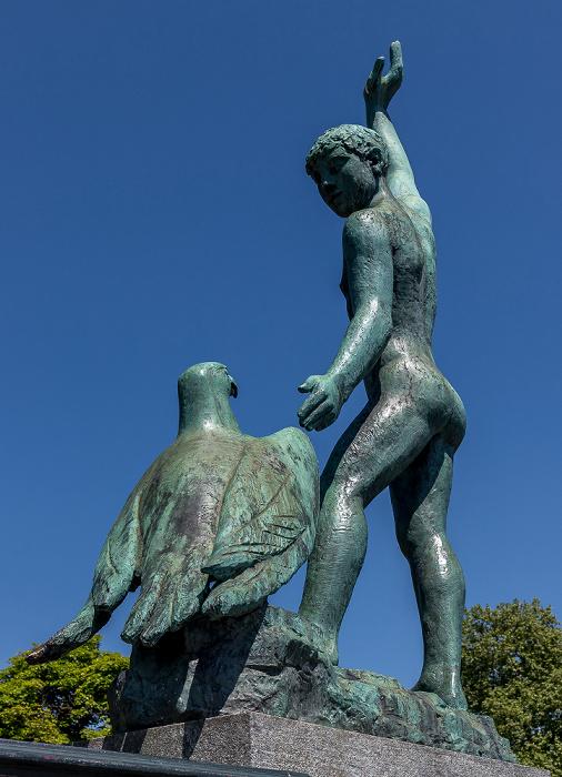 Bürkliterrasse: Ganymed-Skulptur Zürich