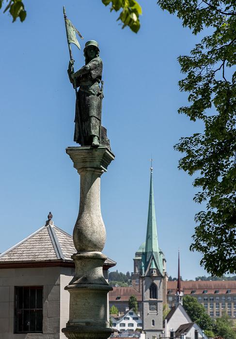 Altstadt: Lindenhof - Statue der heldenhaften Zürcherin Zürich