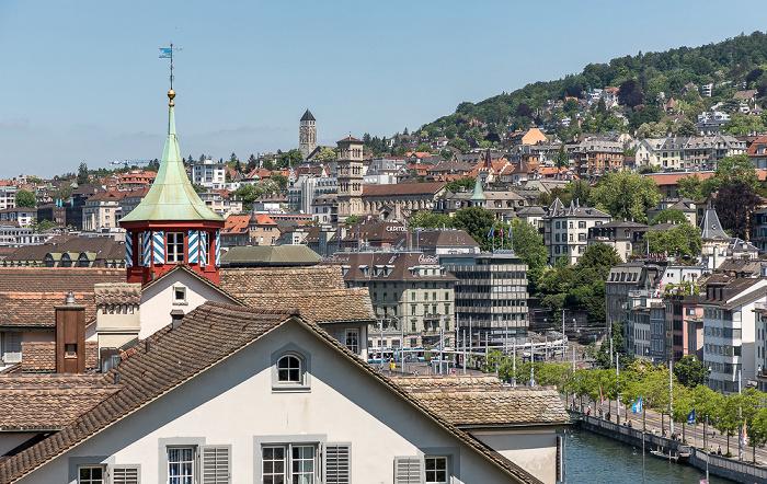 Altstadt - Blick vom Lindenhof: Niederdorf (Dörfli) Zürich