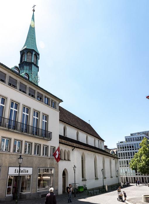 Altstadt: Münzplatz - Augustinerkirche Zürich
