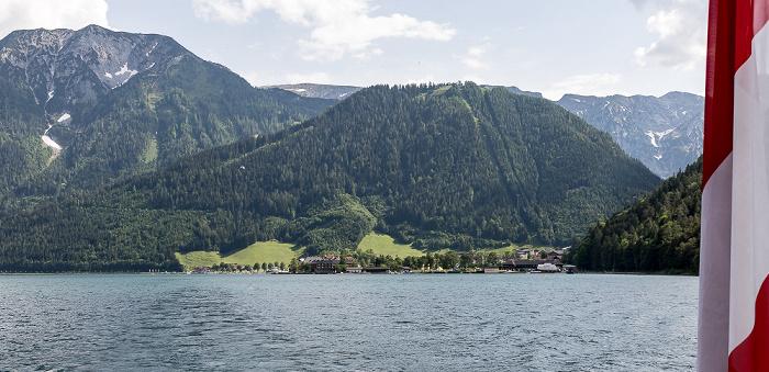 Achensee Karwendel: Rauer Knöll-Verzweigung mit dem Bärenkopf (links), Zwölferkopf (rechts)
