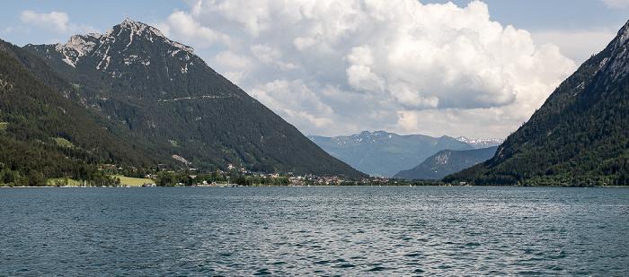Achensee Brandenberger Alpen (Rofangebirge) mit Ebner Joch (links), Karwendel