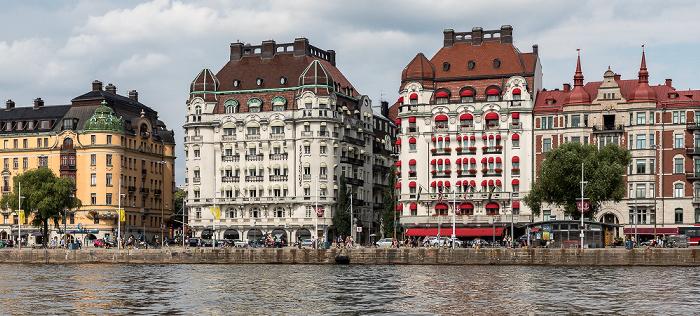 Stockholm Östermalm: Strandvägen - Hotel Esplanade (links) und Hotel Diplomat Kvarteret Bodarna