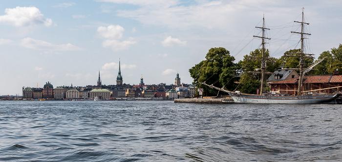 Stockholm Saltsjön Gamla stan Kastellholmen