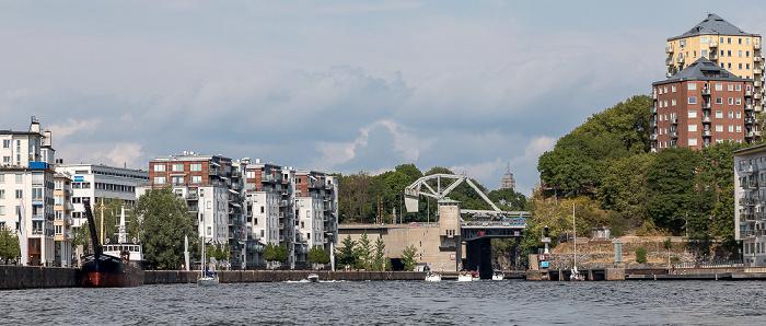 Stockholm Hammarby sjö Danviksbron Danvikskanalen Södermalm Södra Hammarbyhamnen