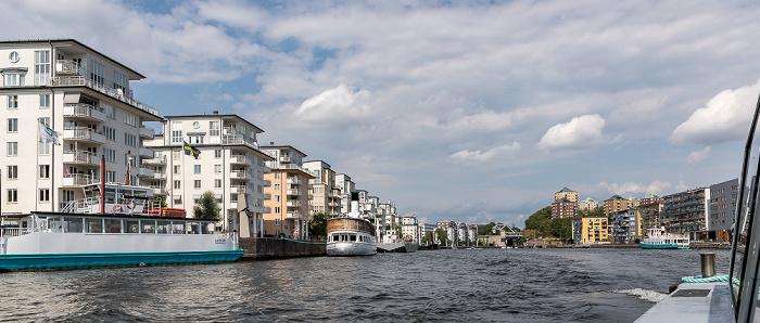 Stockholm V.l.: Södermalm, Hammarby sjö, Södra Hammarbyhamnen