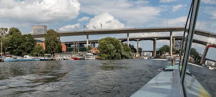 Stockholm Årstaviken (Mälaren) Folksamhuset Johanneshovsbron Skansbron Skanstullsbron Södermalm