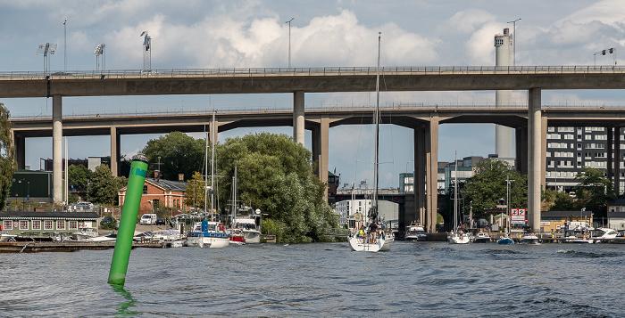 Stockholm Von vorne: Årstaviken (Mälaren), Johanneshovsbron, Skanstullsbron, Skansbron