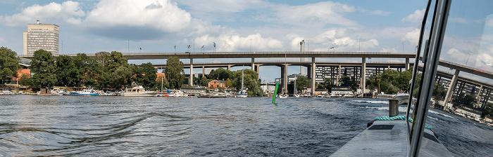 Stockholm Von vorne: Årstaviken (Mälaren), Johanneshovsbron, Skanstullsbron, Skansbron Folksamhuset Södermalm