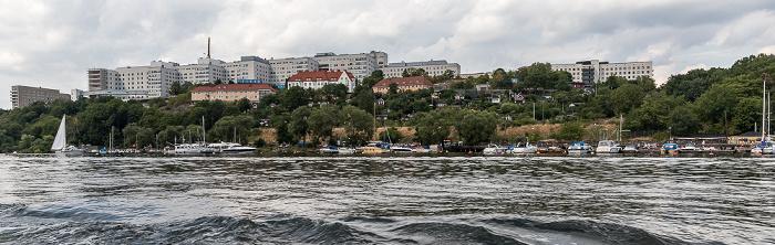 Stockholm Årstaviken (Mälaren), Södermalm mit dem Södersjukhuset