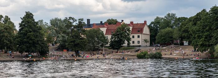 Stockholm Mariebergsfjärden (Mälaren), Långholmen mit dem Långholmsbadet