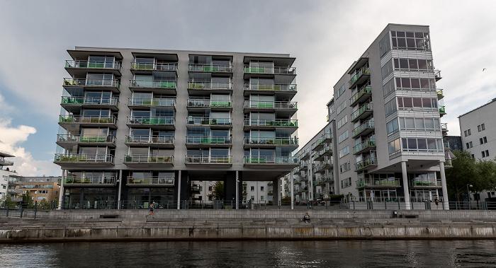 Stockholm Hammarbyleden, Södermalm mit Hammarby sjöstad